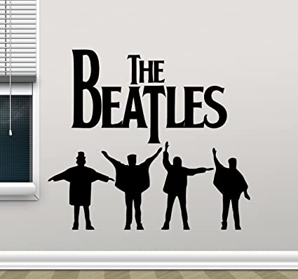 Amazon.com: The Beatles Wall Decal Rock Music Band Vinyl Sticker ...
