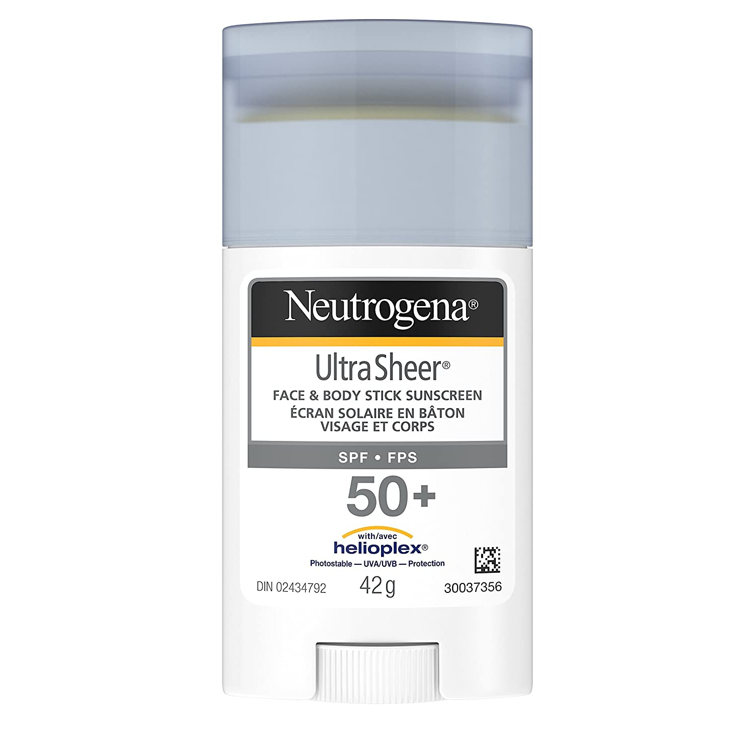 Neutrogena Sunscreen Stick SPF 50+, Ultra Sheer Water Resistant Sun Protection Stick for Face and Body, 42g Johnson and Johnson CA