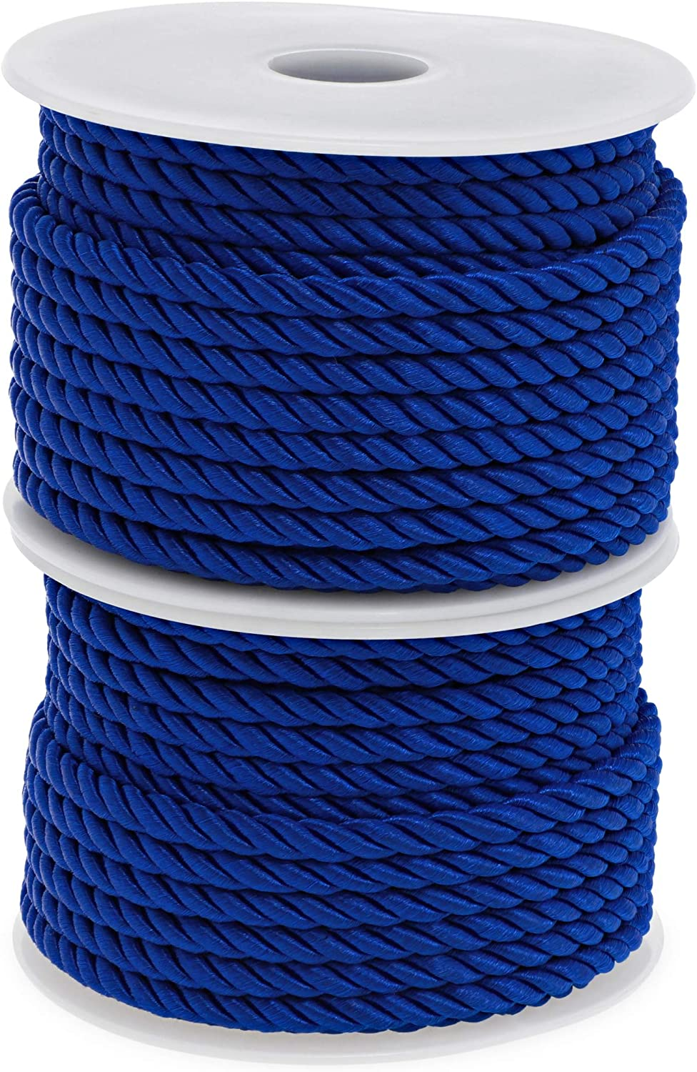 18 Yards, Blue, 2 Pack Nylon Twisted Cord Trim Rope