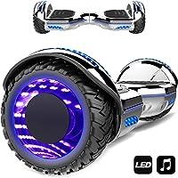 "Patinete Eléctrico 6.5"" con Luces de Flash Ruedas, Luces LED, Monopatín Scooter con Altavoz Bluetooth, Motor 700W Auto Equilibrio"