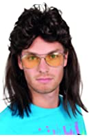 70s Mullet Mens Adults 1970s Groovy Funky Adults Costume Accessory Wig New
