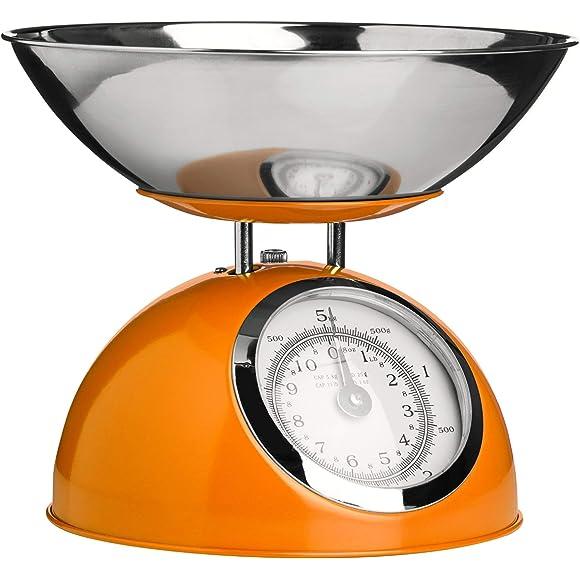 Premier Houseware Orange Kitchen Weighing Scales