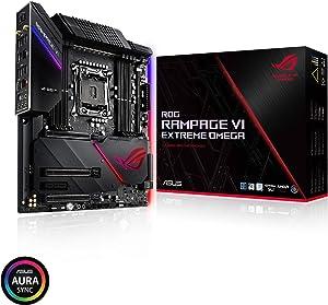 ASUS ROG Rampage VI Extreme Omega X299-II Gaming Motherboard LGA2066 (Intel 9th Gen X-Series) EATX DDR4 M.2 U.2 10G LAN USB 3.1 Gen2