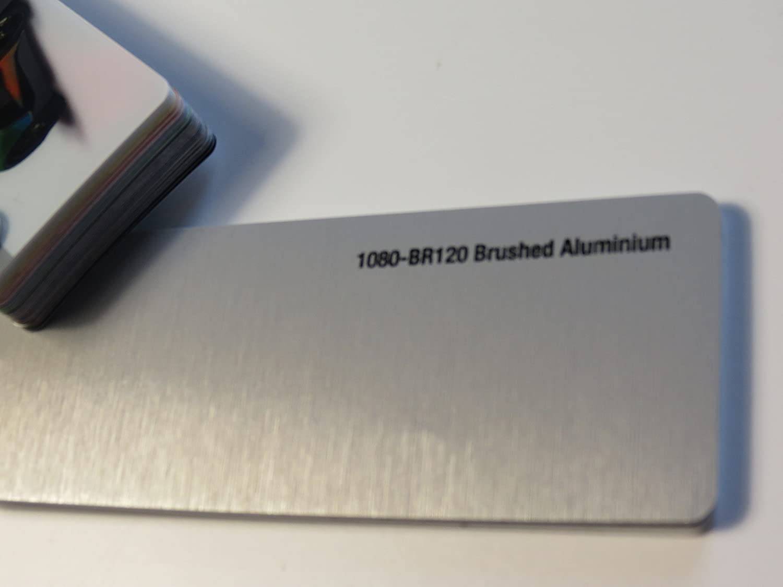 3M Scotchprint Wrap Film Series 1080 Aluminium Geb/ürstet gegossene Autofolie 100 x 152 cm Zuschnitt