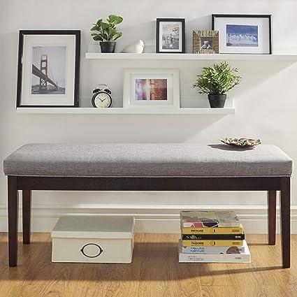 Fine Amazon Com Linen Bench Metallic Brown Linen Bench Made Pabps2019 Chair Design Images Pabps2019Com