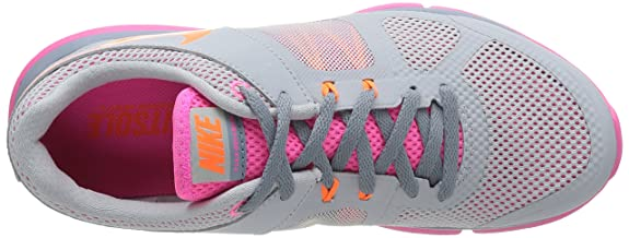 purchase cheap cc17d 9d57c Nike Kids Air Max Tavas PS Running Shoe Grey Mist   Total Orange - Pink Pow  - Dove Grey 9.5 B(M) US  Buy Online at Low Prices in India - Amazon.in