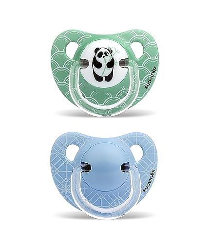 Suavinex 303882 chupete Physio Panda/Flores 2 piezas: Amazon.es: Bebé