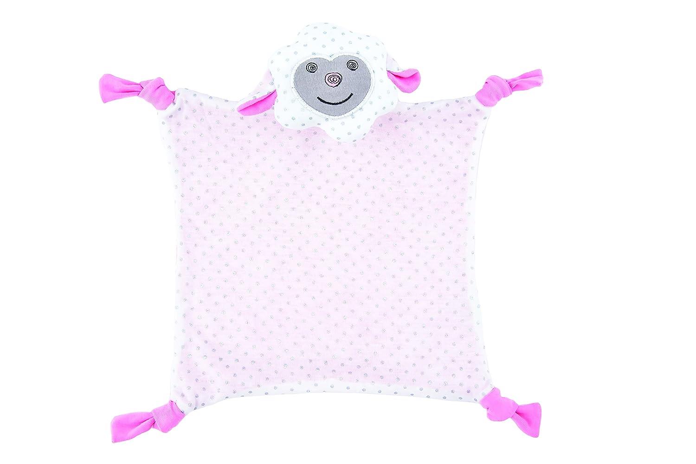 Apple Park Organic Farm Buddies - Dreamy Sheep Blankie, Blanket Baby Toy for Newborns, Infants, Toddlers - Hypoallergenic, 100% Organic Cotton