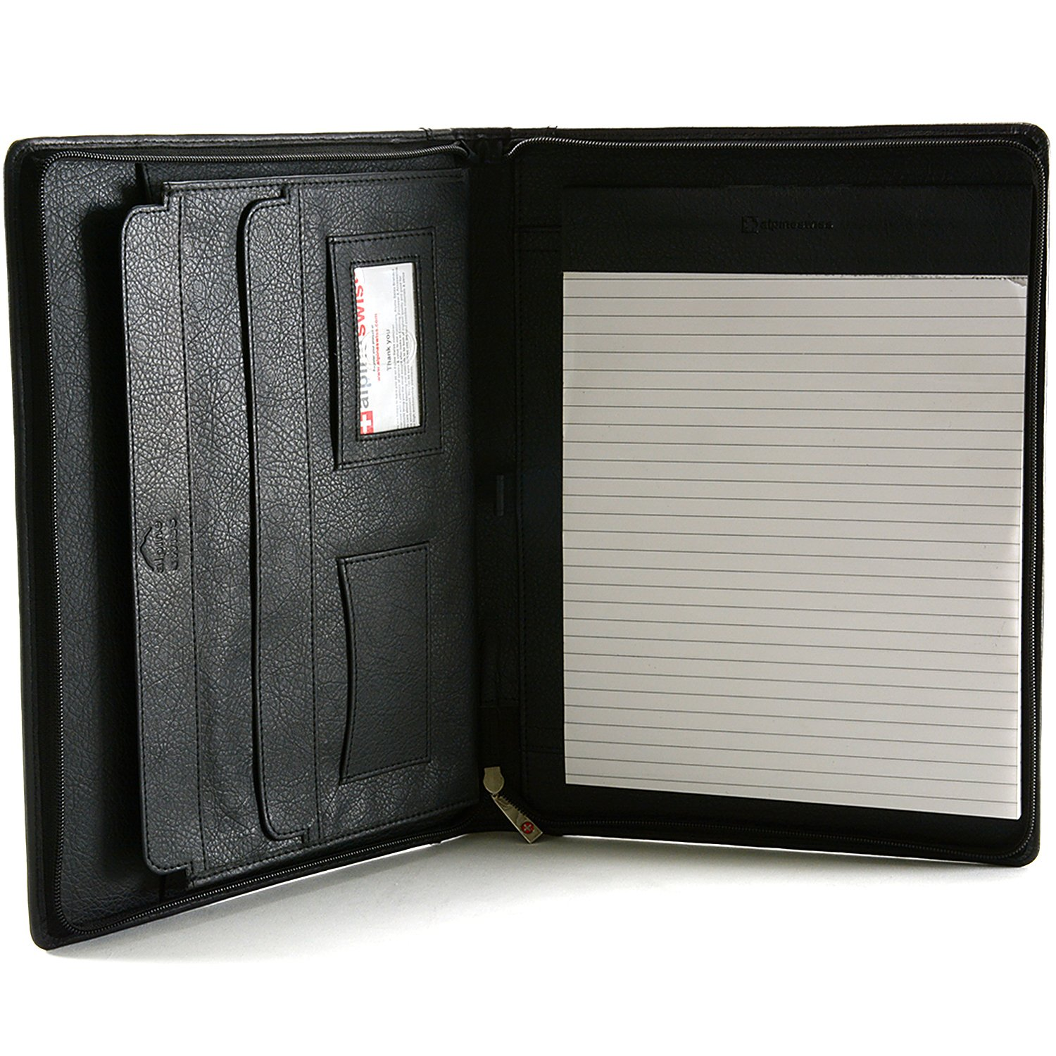 Amazon.com: Alpine Swiss Leather Portfolio, Writing Pad ...