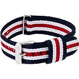 RE:CRON Cinturino da donna in nylon con fibbia in acciaio inox 18 mm di larghezza compatibile con il cinturino Daniel Wellington