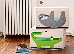 3 Sprouts Kids Toy Chests - Storage Trunk for Boys and Girls Room, Rainforest Set
