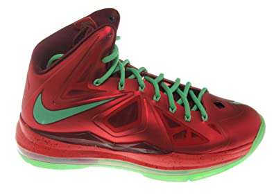 af2f6b39a124 NIKE Mens Lebron X Christmas Day Red Tremlin 541100-600 8