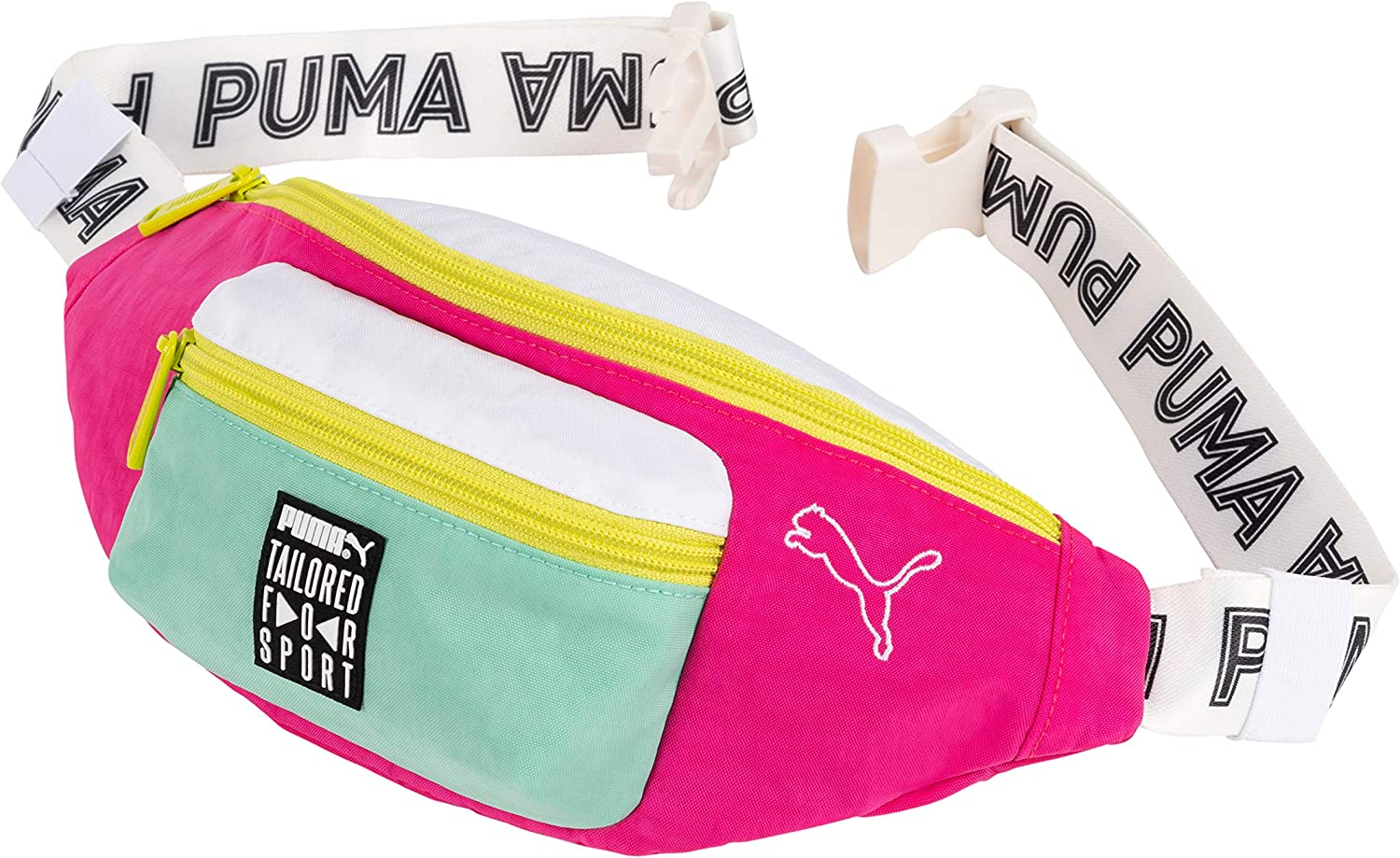 PUMA Tailored for Sport Waist and Shoulder Pack Bag (White/Pink): Amazon.es: Zapatos y complementos