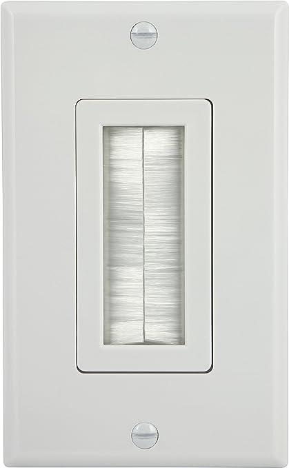 Groovy Amazon Com Ge Single Gang Brush Wall Plate Decora Style White Wiring Database Gramgelartorg