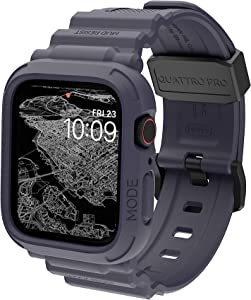 elkson Compatible with Apple Watch Series 6 SE 5 4 Bumper case Band 44mm iwatch Quattro Pro Series Fall Protection Durable Military Grade Protective TPU Mud Shock Proof Resist Men 44 mm Blue