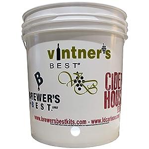 Brewer'sBest 7.9 Gallon Bottling Bucket, White
