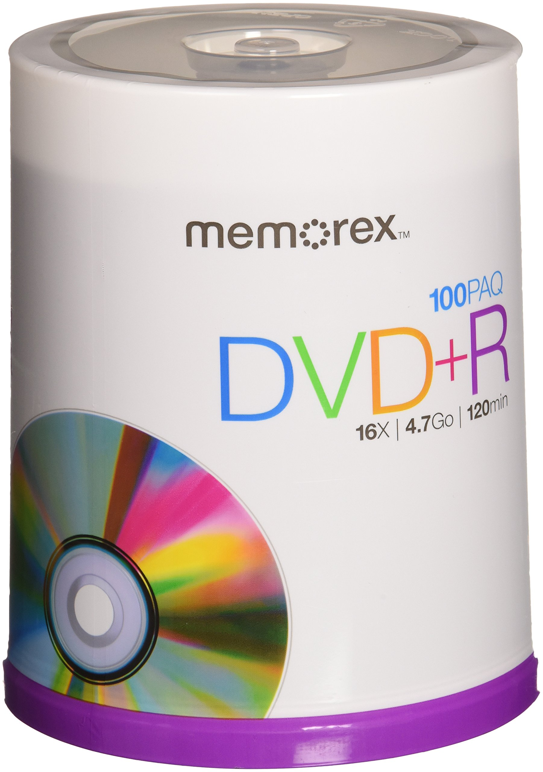Memorex DVD+R 4.7GB Multipack 2-100 Pack Spindles, 200 discs total