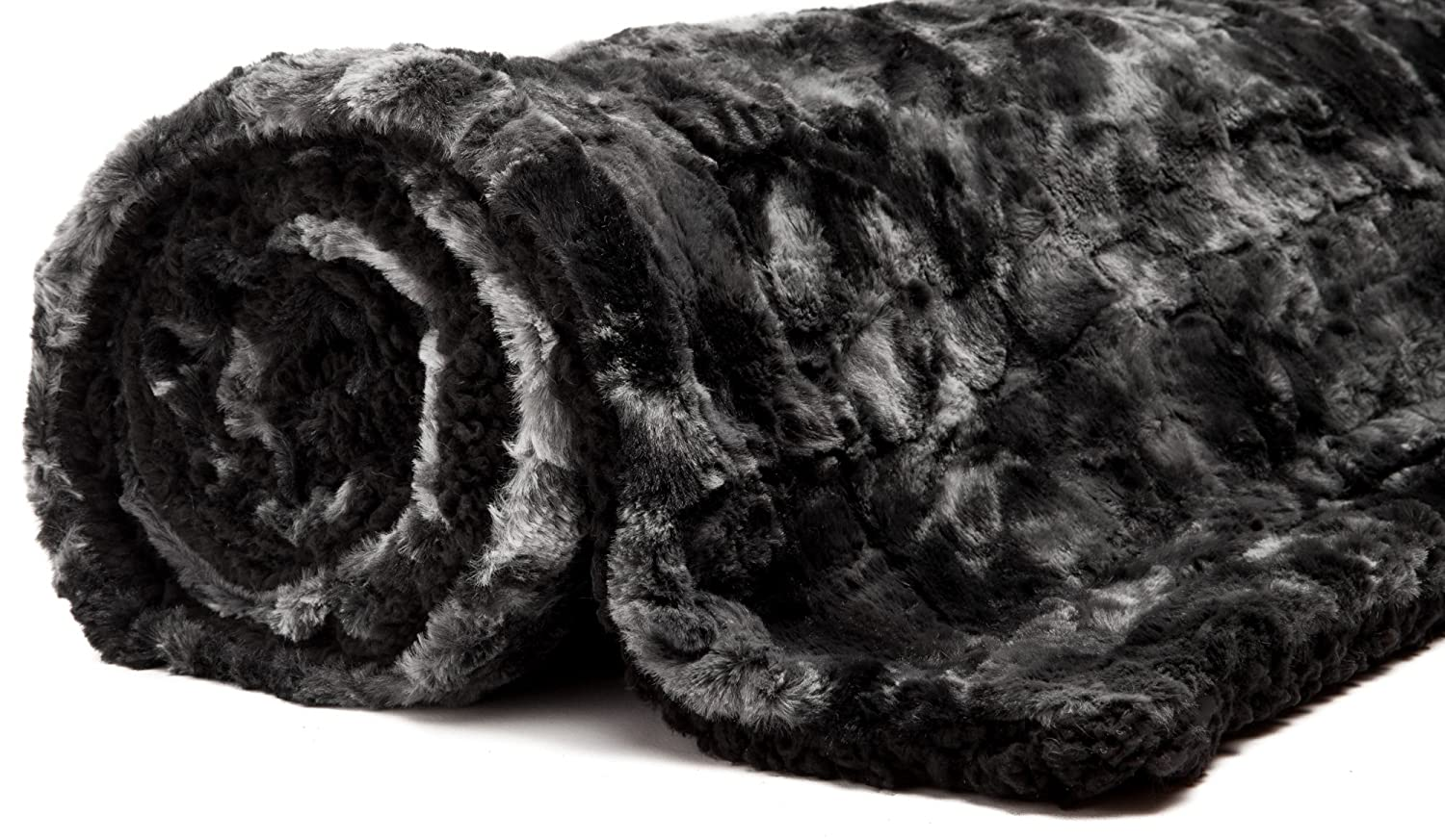 50 x 65 - Dark Grey PurchaseCorner SYNCHKG079886 Chanasya Faux Fur Throw Blanket Super Soft Fuzzy Light Weight Luxurious Cozy Warm Fluffy Plush Hypoallergenic Blanket for Bed Couch Chair Fall Winter Spring Living Room