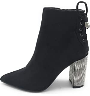 J Mark EASY21 Women Fashion Ankle Rhinestone Boots Casual Short Bootie Shoes