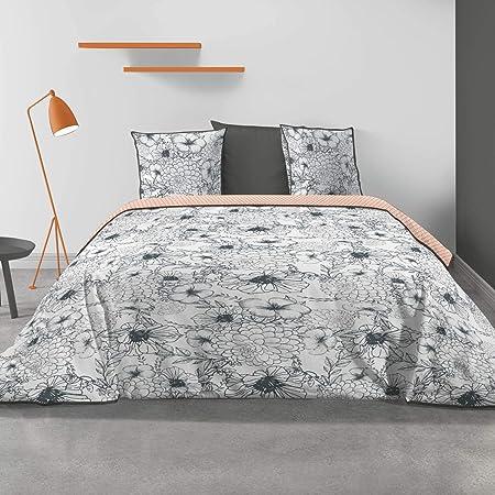 Housse de Couette Les Ateliers du Linge/® Bayou/… Parure de lit avec Housse de Couette Parure de lit Haut de Gamme Parure de lit 100/% Coton Taies doreiller- 240 x 220 cm Parure de lit