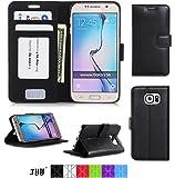 Cover Samsung S6, Custodia Samsung S6, Cover Galaxy S6,Fyy Custodia Protettiva Portafoglio da Mano per Carta di Credito per Samsung Galaxy S6 Nero