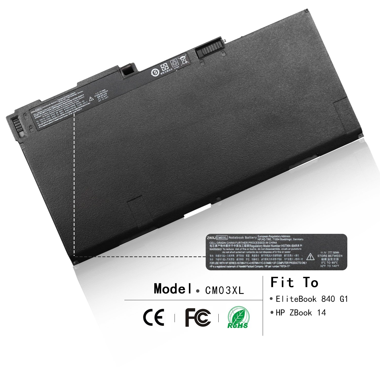 Bateria CM03XL 11.1V 50Wh para HP EliteBook 840 845 850 855 740 745 750 755 G1 G2 Series HSTNN-IB4R HSTNN-LB4R E7U24AA H