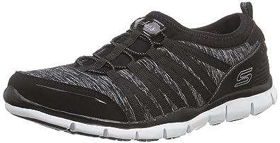 de72443a2319 Skechers Women s Gratis Shake-It-Off Low-Top Sneakers Black Size  3