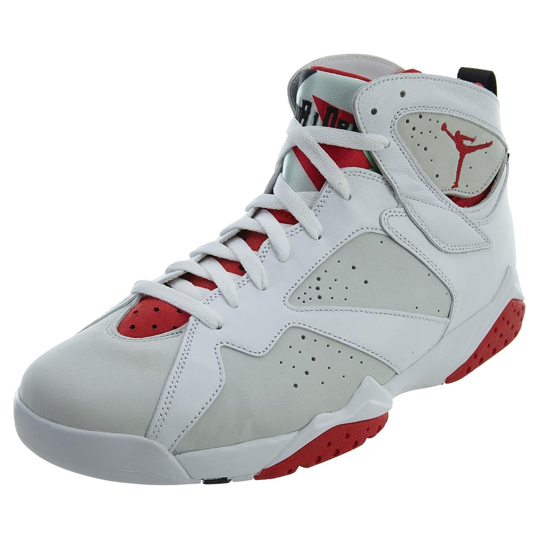 Nike Herren Air Jordan 7 Retro Turnschuhe, Schwarz, 485 EU  505 EU|Wei? / Rot / Versilbert (Wei? / True Red-lght Slvr-trmln-)