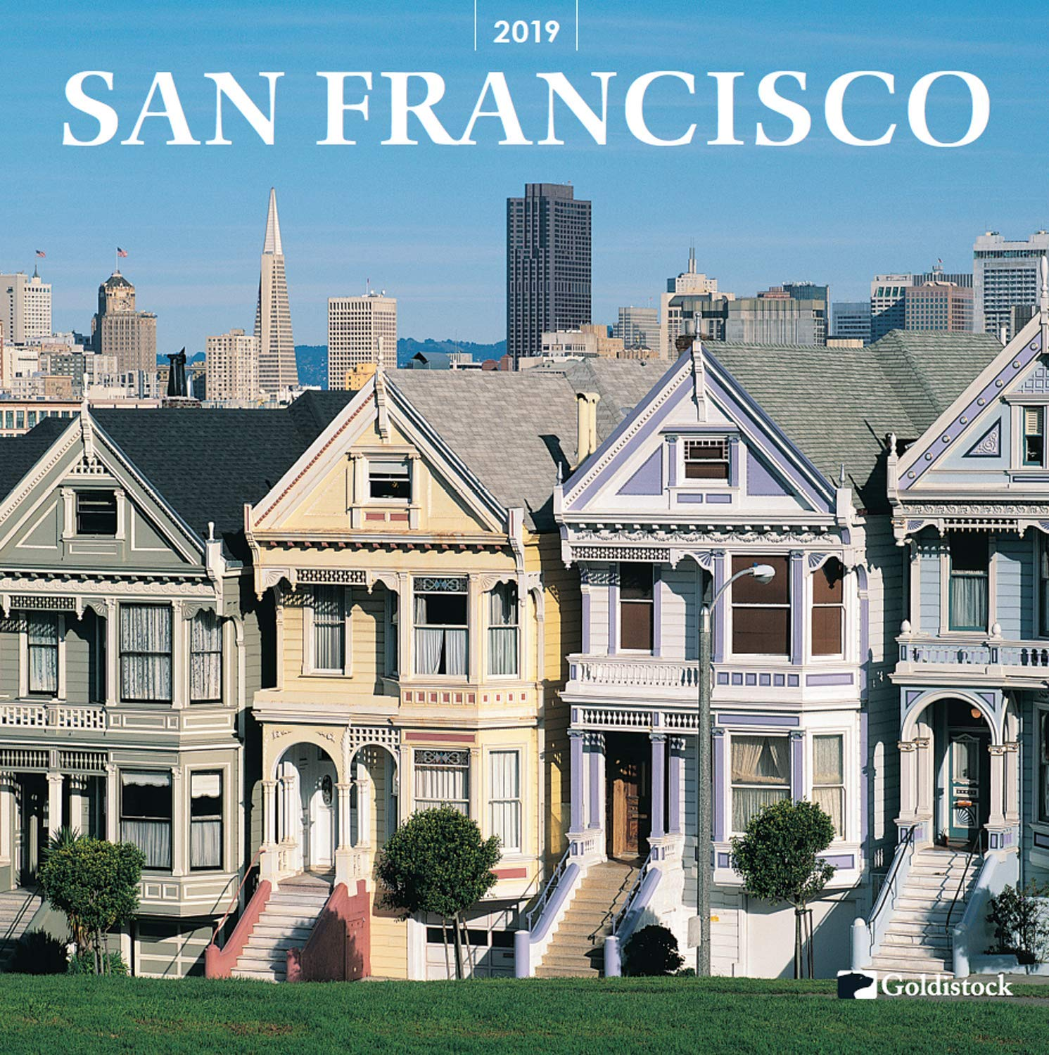 Goldistock -''San Francisco'' Eco-Friendly 2019 Large Wall Calendar - 12'' x 24'' (Open) - Beautiful Scenes of The City by The Bay - Thick & Sturdy Paper
