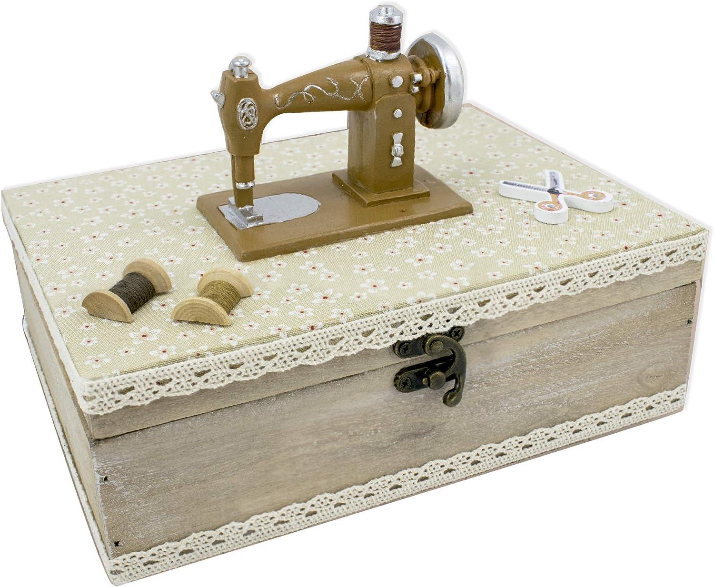 Fildor Máquina coser Caja, Organizador, Costurero, fabric, Natural, 24x18x16 mm: Amazon.es: Hogar