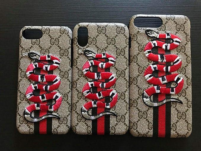 best website c7902 68a79 Fashion Luxury Designer iPhone Case Designer Textured Street Fashion  Hypebeast Collab Case (Snake, iPhone X/XS)