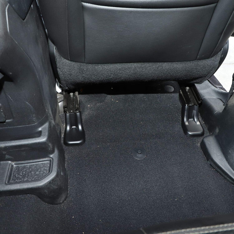 ABS Black 10pcs Voodonala for Jeep JL Front Seat Screw Protector Cover Trim for 2018-2020 Jeep Wrangler JL JLU Gladiator JT