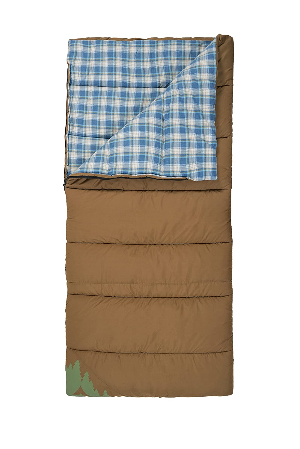 TETON Sports Evergreen Canvas Sleeping Bag Warm and Comfortable Sleeping Bag Great for Camping or Hunting Mild Weather Sleeping Bag Perfect for a Family Campout in the Backyard or the Great Outdoors