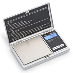 AWS Series Digital Pocket Weight Scale 100g x 0.01g, (Silver), AWS-100-SIL
