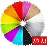 Mture 3D PrintFilament, Ink Filament PLA Filament 3D Stift Filament für 3D Drucker-Stift 3D Pen 3D Stift 3D Drucker 12 PCS 1,75 MM 10M