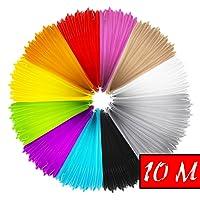 Mture 10m PLA Filament, 3D Stylo Fils Filament, 3D Dessin Ink Filament 3D Print Filament Pour Stylo à l'impression 3D 3D Dessin, 1.75 mm, 12 PCS