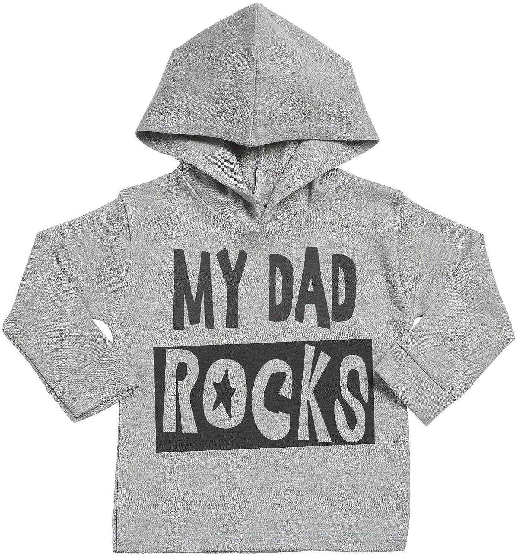 Sr - My Dad Rocks Sudadera con Capucha Para Bebé - Sudadera con Capucha Para Bebé Niño - Sudadera con Capucha Para Bebé Niña - Gris SRO17_H