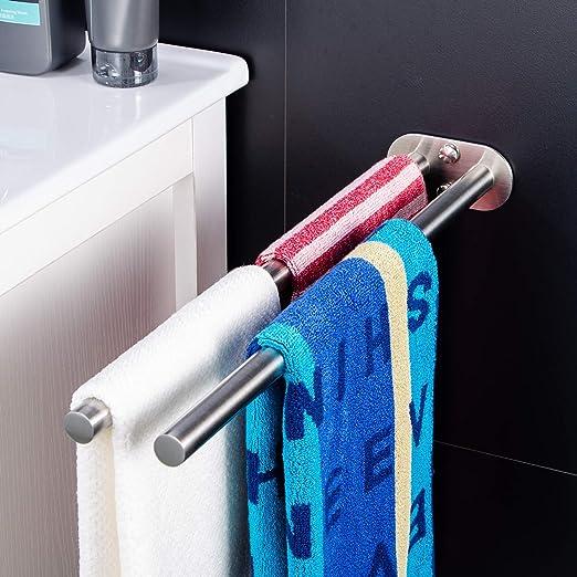 zunto autoadhesivo toallero y toallero de barra (sin agujeros Geb š ¹ rstetem Acero Inoxidable 40 cm: Amazon.es: Hogar