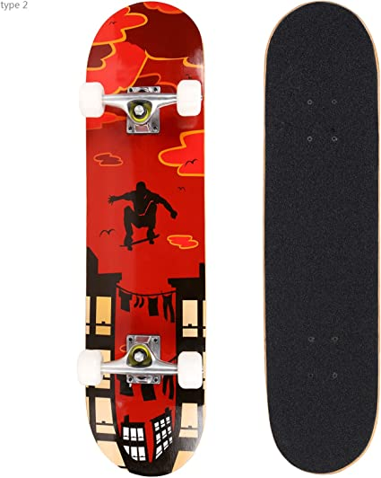 Girls,Boys,Kids,Adults Beginners Amrgot Skateboards Pro 31 inches Complete Skateboards for Teens