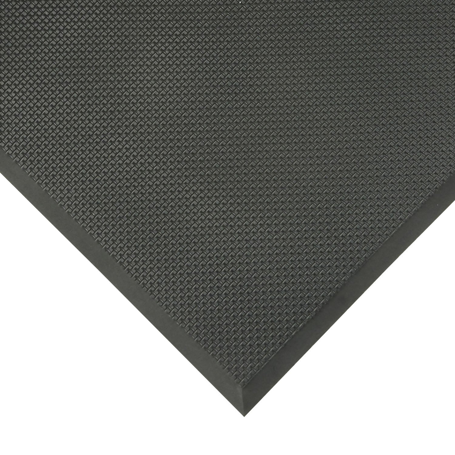 NoTrax T17 Superfoam Safety/Anti-Fatigue Floor Mat, for Dry Areas, 3' Width x 5' Length x 5/8'' Thickness, Black