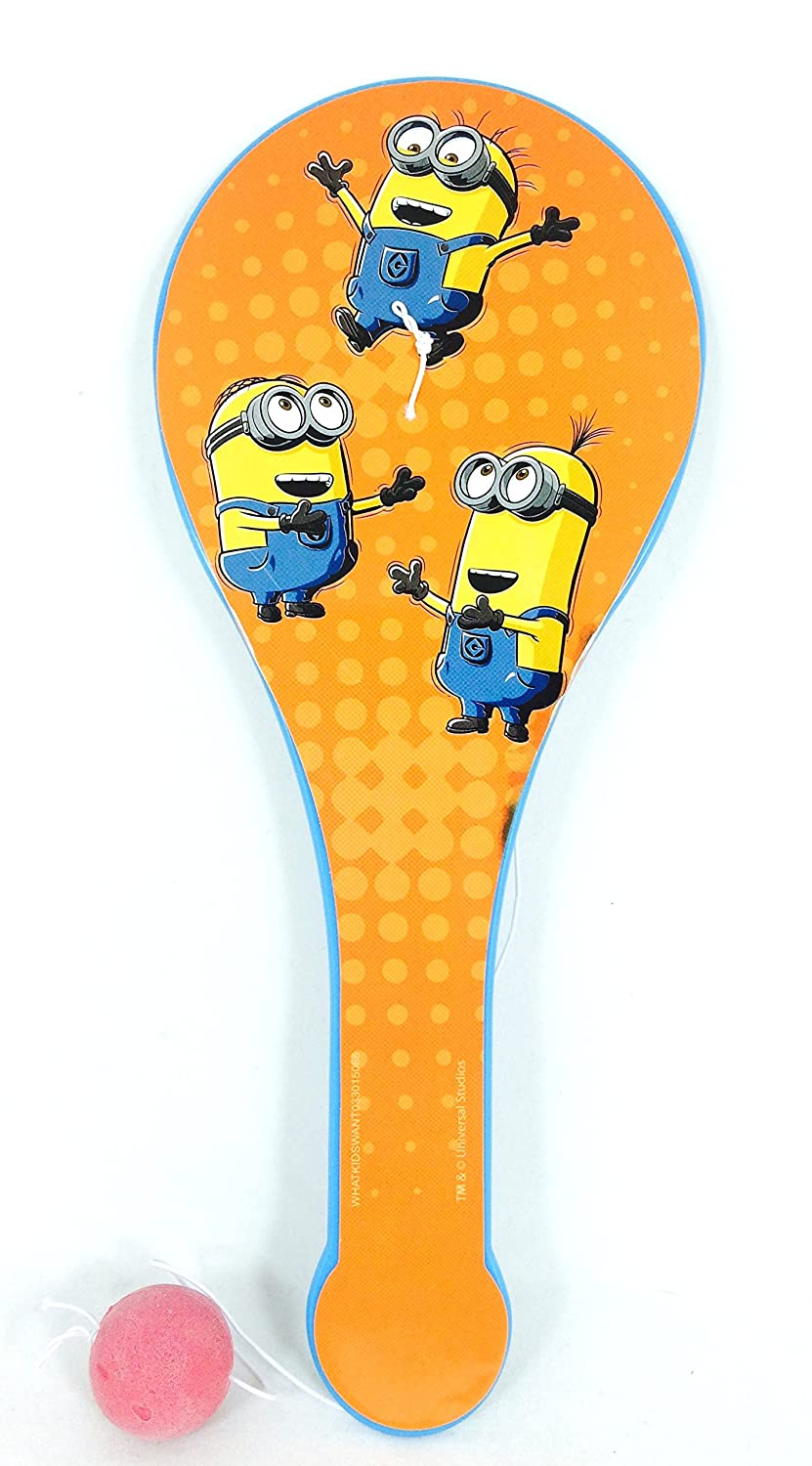 2 Pk, Despicable Me Minion Childrens Paddle Ball Toy