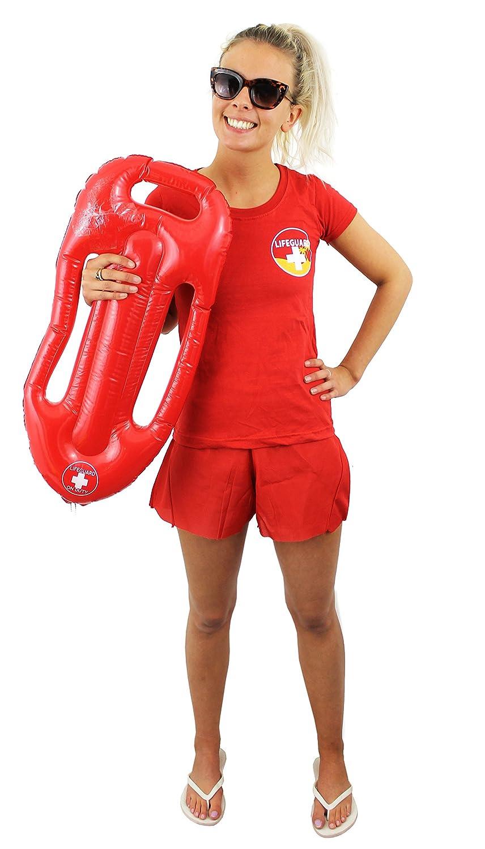 ILOVEFANCYDRESS - Diseño de socorrista para mujer (camiseta y flotador): Amazon.es: Juguetes y juegos