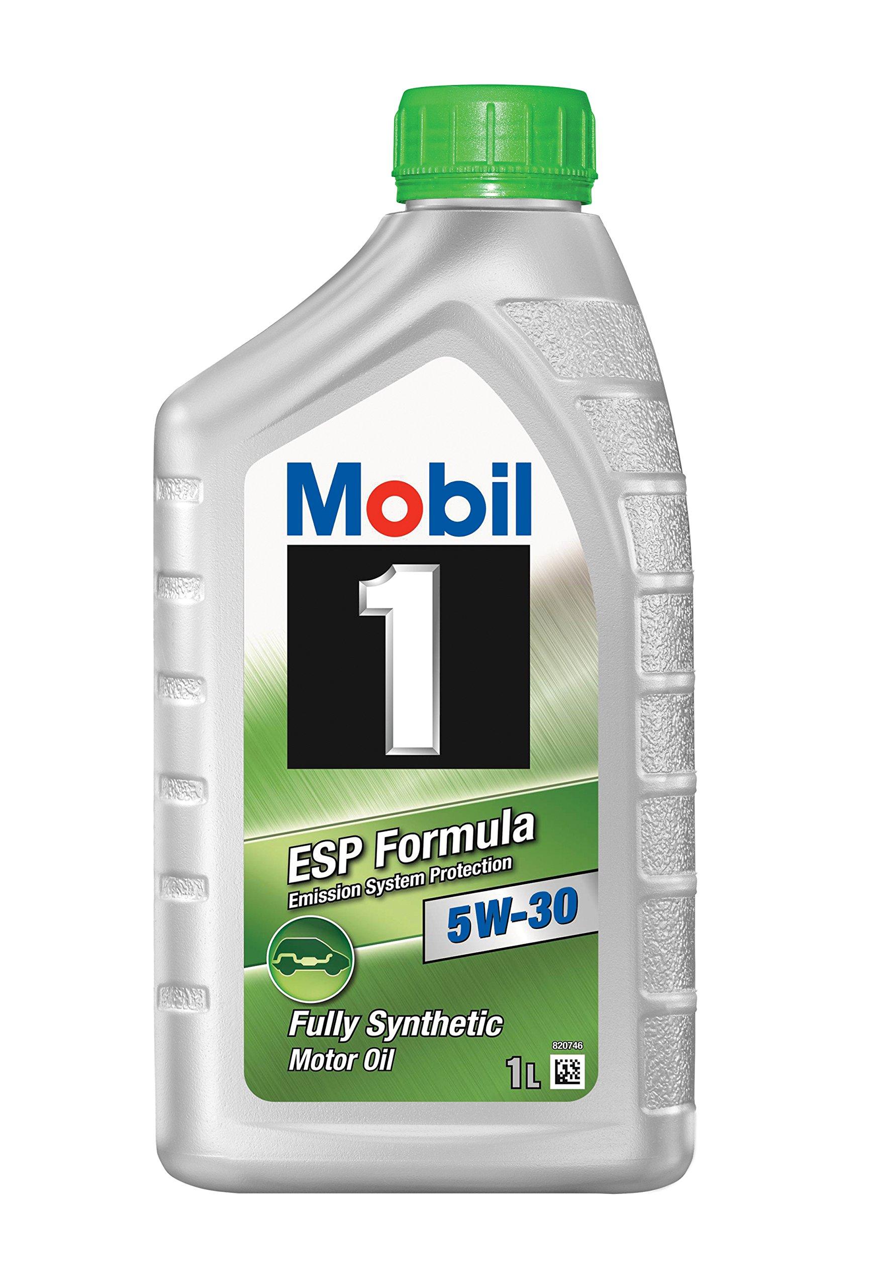 Mobil 1 (103469-12PK) ESP Formula 5W-30 Motor Oil - 1 Liter, (Pack of 12) by Mobil 1