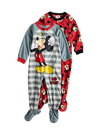 a908f2435 Amazon.com  Disney Mickey Mouse Footed Blanket Sleeper Toddler Boys ...