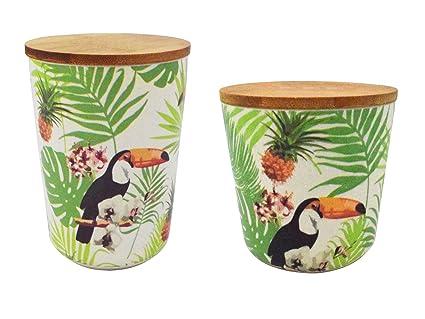 Vorratsdosen Vorratsbehälter Kaffeedose Bambus Behälter