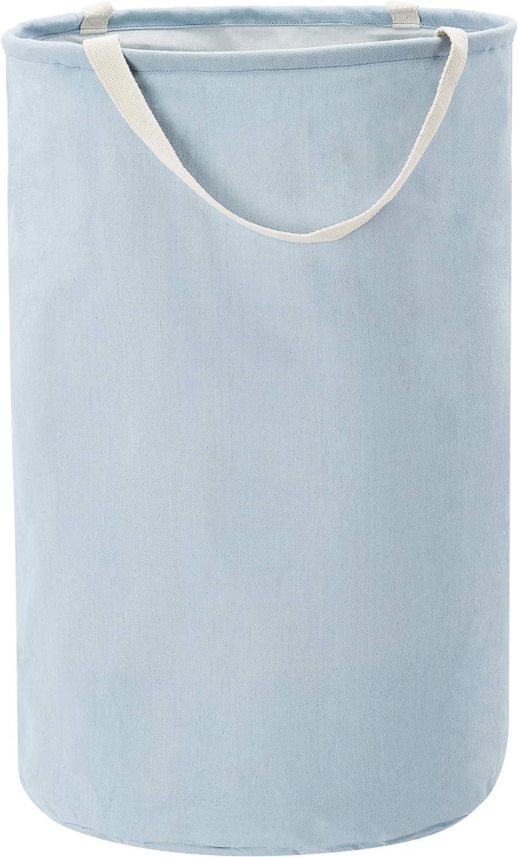 Basics Fabric Storage Bin Dusty Blue Tall Round