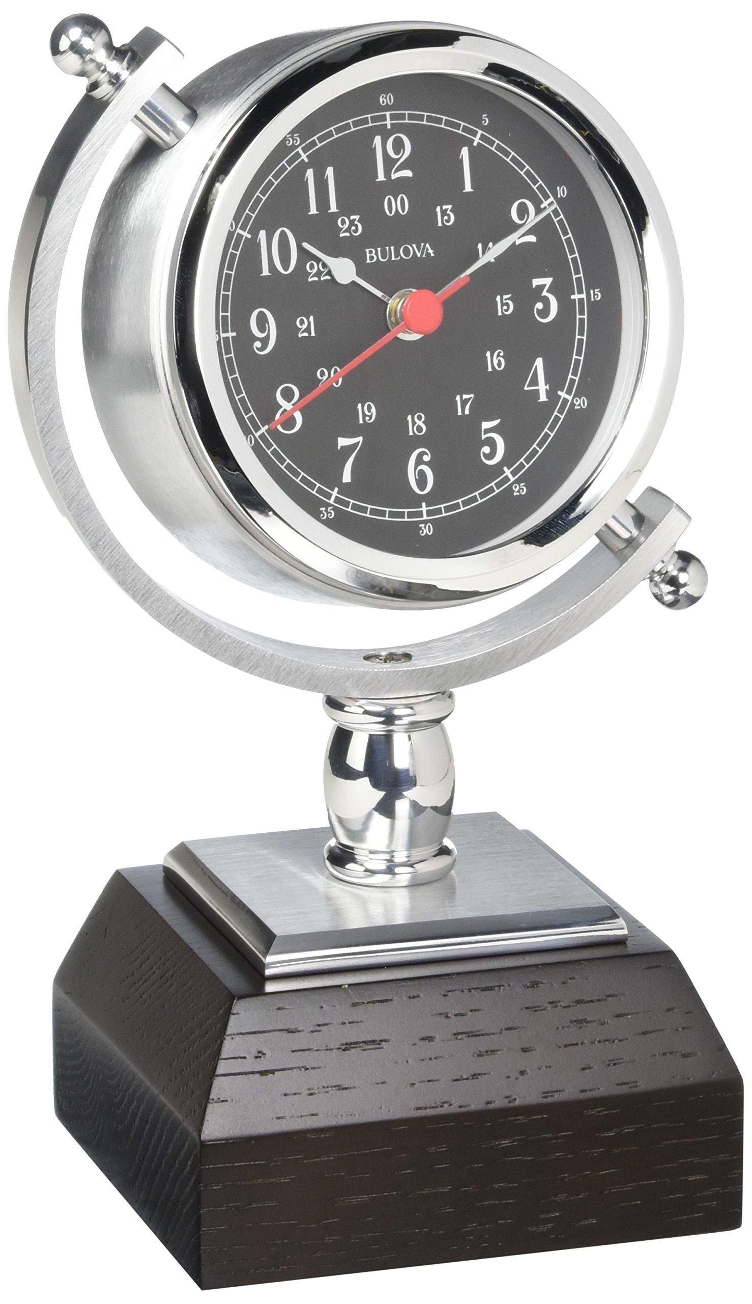 Bulova Sag Harbor Mantel Clock, 8.25'', Silver by Bulova