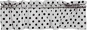 lovemyfabric Polka Dots/Spots Valance Window Kitchen Curtain(58