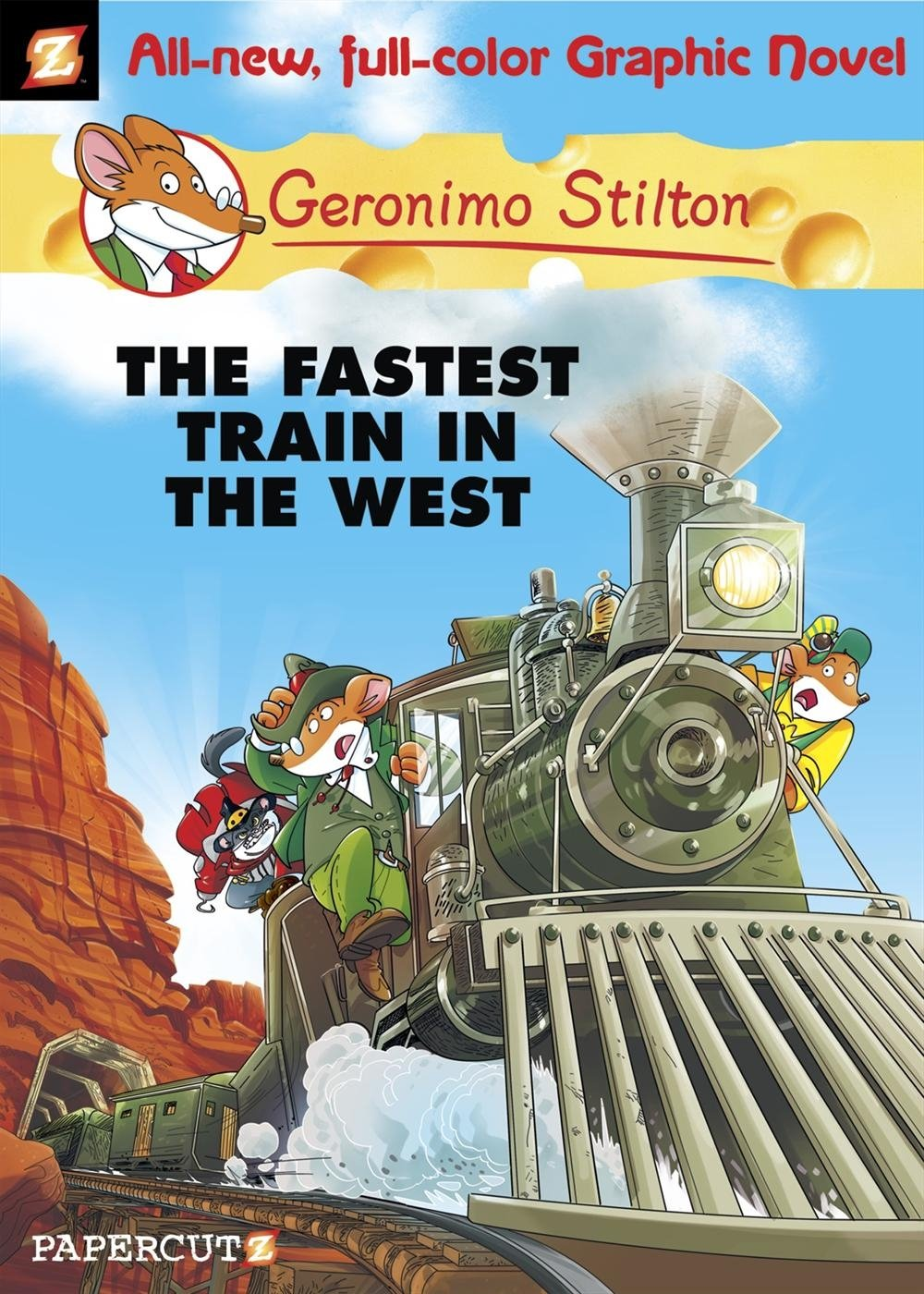 Geronimo Stilton Graphic Novels #13: The Fastest Train In the West ...