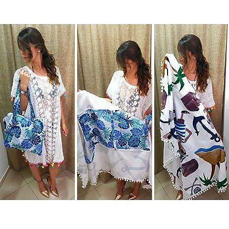 CindyStylist toalla de playa marinero Che Diventa una comodissima Bolso 156 x 104 cm